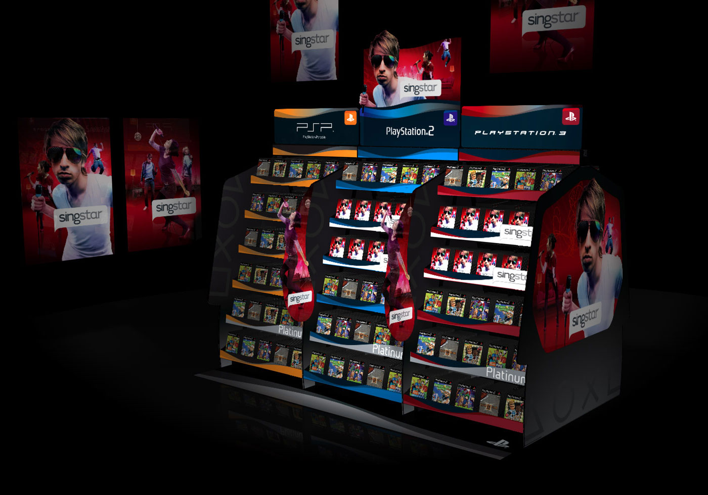 SONY Playstation point of sale concept visualisation