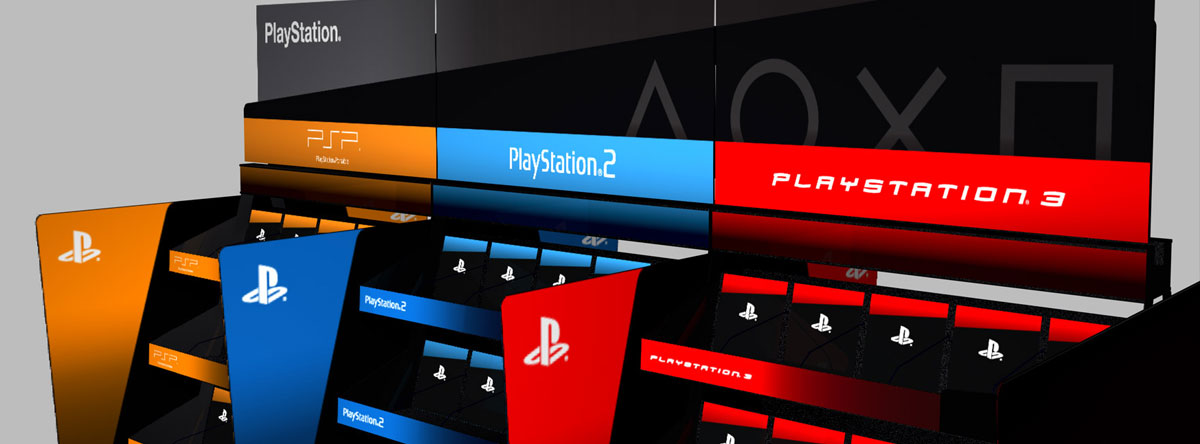 SONY Playstation point of sale designs